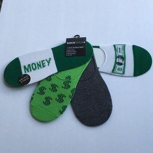 💵Money Moves No Show Cotton Socks Shoe Size 7-12